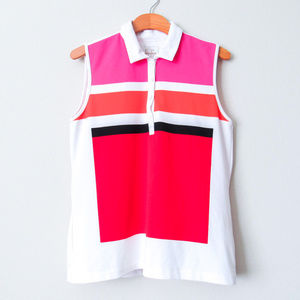 Sporty Sleeveless Top Multicolor Activewear Golf